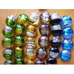 Glasperlen, runde Glaslinse