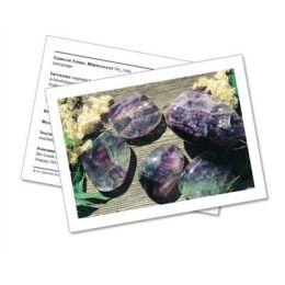 Infokarte / Mineralienkarte Fluorit