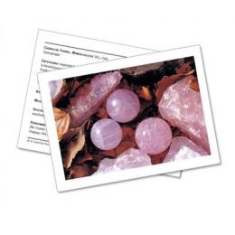 Infokarte / Mineralienkarte Rosenquarz
