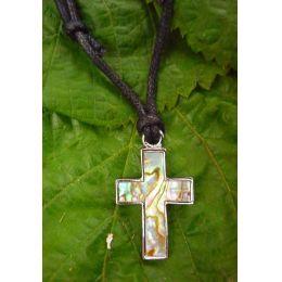 Kette Kreuz Paua