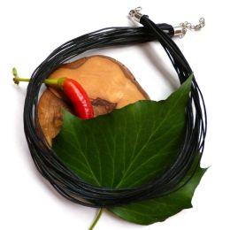 Kette schwarz 18reihig, 42+5 cm