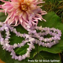 Lavendel-Amethyst Splitter (gerundet), gebohrt, 50 Splitter