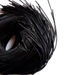 Lederband Rindleder, schwarz