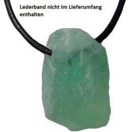 Power Rock (gebohrter Rohstein) Fluorit grün