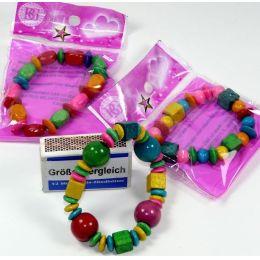 Armband aus Holz - Bunter Holzschmuck für Kinder - Restposten