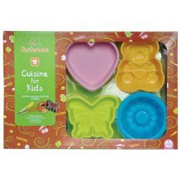 Backen - Geschenkset - Silikonbackförmchen und Zubehör - 12 Teile - für Kinder