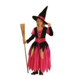 Bunte Hexe - Kinderkostüm - Einheitsgröße 7-9 Jahre - Karneval Fasching