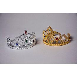 Diadem gold oder silber - Karneval Fasching Mottoparty - Krone - Krönchen