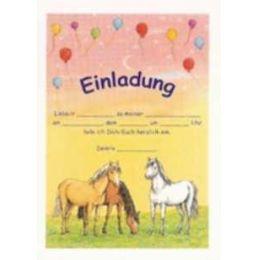Einladungen - Geburtstagseinladung - 12 Stück - Traumpferdchen mit Briefumschlag