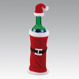 Flaschendekoration - Weihnachtsmannkostüm - Dekoration zum Verschenken