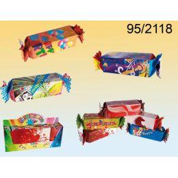 Geschenkverpackung - Geschenkkarton in Bonbonform - mit Anleitung