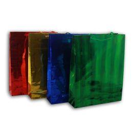 Glitzertragetasche Geschenktasche - 4 Farben - ca. 31,5 x 26,5 cm