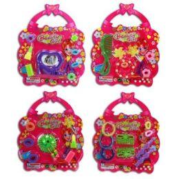 Haarschmuck - Beautyset - Haarklammern - Kamm - in Handtaschenform - für Mädchen