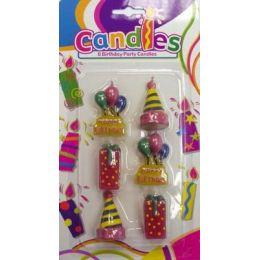 Kerzen Set - Partykerzenset mit 6 Kerzen - Geburtstagskerzen  - Happy Birthday