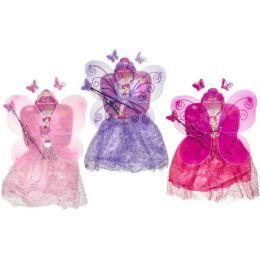 Kinderkostüm - Fee - Set mit viel Zubehör - 3 Farben
