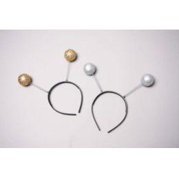 Kopfbügel mit Glitterkugeln - gold oder silber - Karneval Fasching Halloween