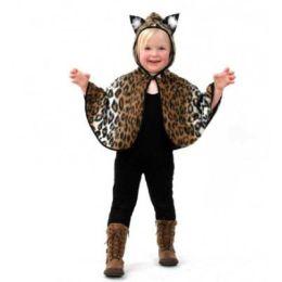 Kostüm - Kinderkostüm - Cape Kätzchen - Gr. 104-116 - Karneval Fasching