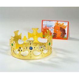 Krone - Königskrone gold mit Ziersteinen - für Kinder und Erwachsene