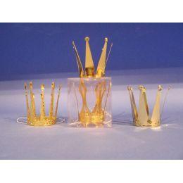 Krone - Krönchen - Metallkrone (gold) in Klarsichtdose - Prinzessin Karneval Fasching Kindergeburtstag