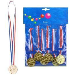 Medaillen Winner - 6 Stück - mit Band