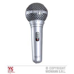 Mikrofon aufblasbar ca 25 cm - silber