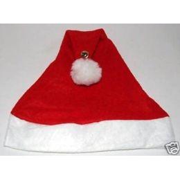 Mütze - Weihnachtsmütze mit Bommel und Glöckchen - Nikolausmütze