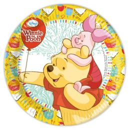 Pappteller - Teller - Winnie the Pooh - 8 Stück - ca. 23 cm