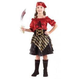 Piratin Lola - Kinderkostüm - Einheitsgröße 7-9 Jahre - Karneval Fasching