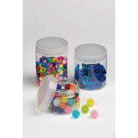 Plastikdose mit Schraubverschluss - 250 ml - Sammeln, Sortieren, Aufbewahren