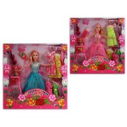 Puppe mit Kind in Sichtbox - viel Zubehör - toller Geschenkartikel