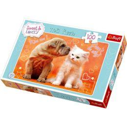 Puzzle - Tierliebe - Hund und Katze - 100 Teile
