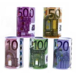 Spardose Metall mit Euro Design - ca. 12 x 7,5 cm