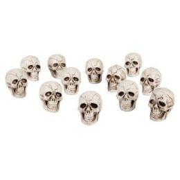 Totenkopf ca. 4 x 4 cm - 12 Stück - Halloween Dekoration