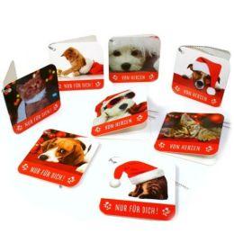 Weihnachts Geschenk Anhänger - 8 Stück im Set - Hunde und Katzenmotive