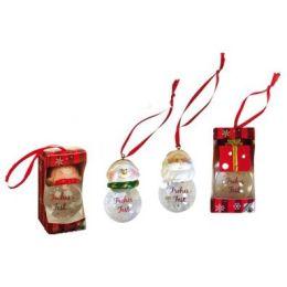 Weihnachts Schneekugel - Deko Anhänger - ca. 6 cm - 4 Motive