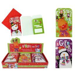 Weihnachtskarte für Gutscheine und Geschenke ca. 16 x 9 cm