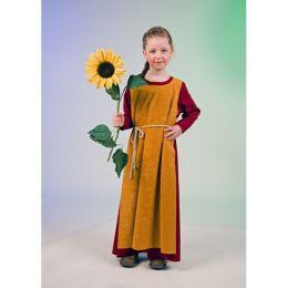 Wikinger Mädchen - Kinderkostüm - Kleid mit Überwurf