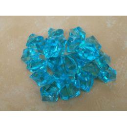 1 Box Deko Kristalle in Hellblau