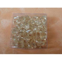 1 Box Deko Kristalle in Hellgelb
