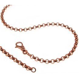 19 cm Erbskette Armband - 585 Rosegold - 3,5 mm