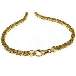 19 cm Königskette Armband - 585 Gelbgold - 3 mm