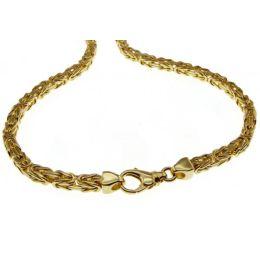 19 cm Königskette Armband - 585 Gelbgold - 4 mm