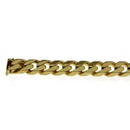 19 cm Panzerarmband - 585 Gelbgold - 7 mm Armband