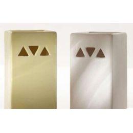 2 Duftlampen in Pastell aus Keramik, 12 cm