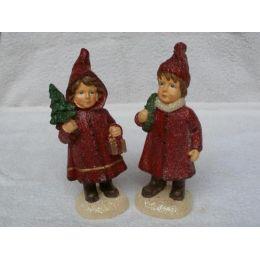 2 Kerzen Weihnachts-Kinder ca. 12 cm