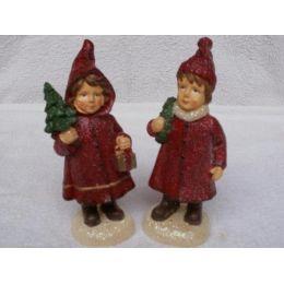 2 Kerzen Weihnachts-Kinder ca. 16 cm