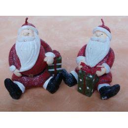2 Kerzen Weihnachtsmänner ca. 8 cm hoch