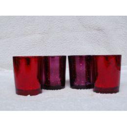 2 Teelichtbecher Dots aus Glas