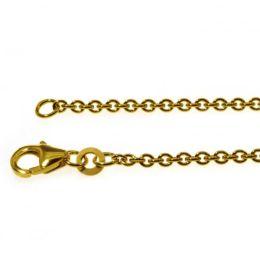 36 cm Rundankerkette - 333 Gelbgold - 2 mm Halskette