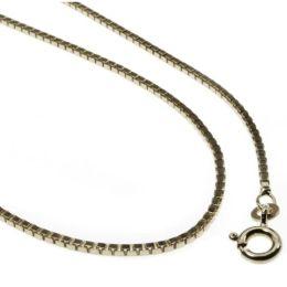36 cm Venezianerkette - 585 Weißgold - 0,9 mm Halskette